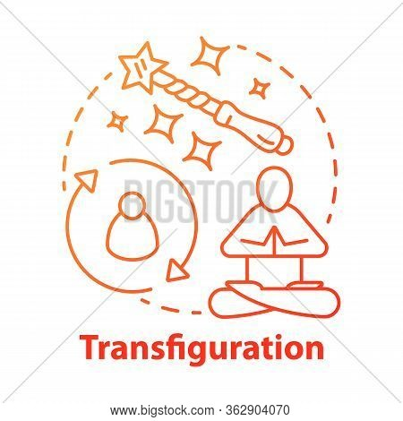 Transfiguration Concept Icon. Wizardry And Witchcraft Idea Thin Line Illustration. Appearance Altera