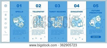 Magic Services Onboarding Mobile Web Pages Vector Template. Fortune Telling Responsive Smartphone We