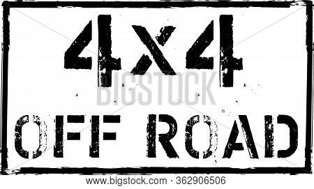 4x4 Off-road Emblem. Extreme Suv Logo Vector Illustration Stamp