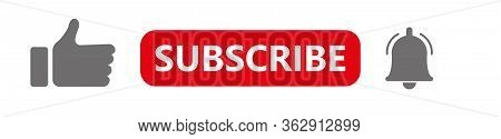 Like, Subscription, Notification. Video Template For Blog, Channel. Follow The Viewer Notification.