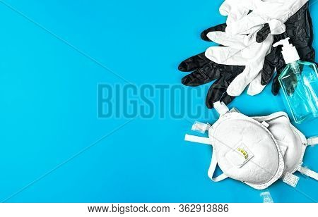 Respiratory Protection Respirator And Latex Gloves, Antiseptic Gel - Personal Protective Equipment,