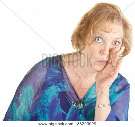 Senior Woman Whispering