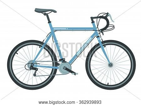 Bicycle Element. Bicycle Poster. Realistic Picture. Vector Illustration Image.