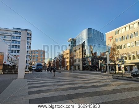 Nuremberg, Germany - January 01, 2020: Street