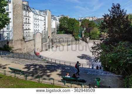 Paris, France - August 30, 2019: Arenas Of Lutetia Are The Oldest Surviving Buildings On The Territo