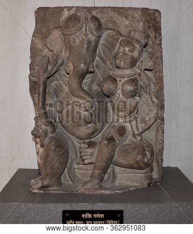 Gwalior, Madhya Pradesh/india - March 15, 2020 : Sculpture Of Shakti Ganesha