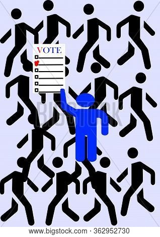 Voting In An Election Campaign Of The President Or Senate And Parliament.