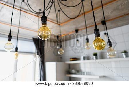 Decorative Antique Edison Light Bulbs With Straight Wire. Big Vintage Incandescent Light Bulbs Hangi