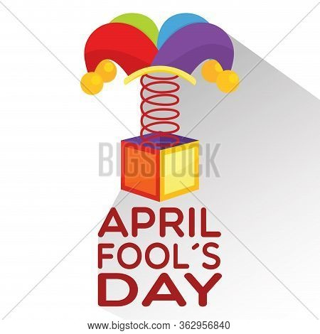 April Fool Day Poster With A Joke Box - Vector