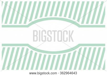 Sweet, Mint Green Tag Vector Card Or Invitation With Strips