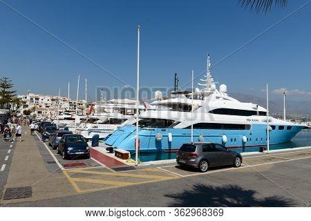 Malaga, Spain - September 9, 2016 -puerto Marina Harbor In Benalmadena, Spain. Puerto Marina Is Luxu