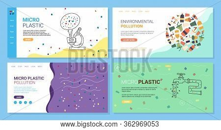 Micro Plastic Pollution, Environmental Pollution. Effect Microscopic Plastic Fragments On Human Heal