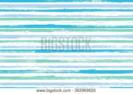 Ink Freehand Straight Lines Vector Seamless Pattern. Trendy Linen Fabric Print Design. Retro Texture