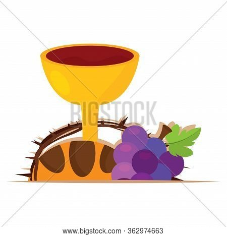 Holy Week Illustration. Holy Eucharist - Vector Illustration