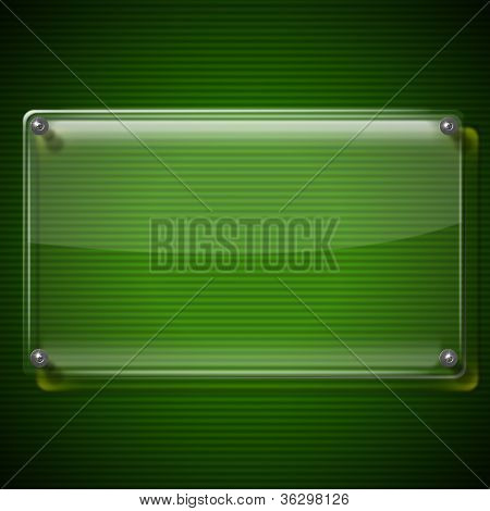 Glass Framework On Green Background