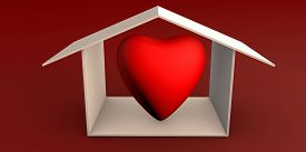 Stay At Home With Loved Ones Keep Safe Prevent Disease 3d Isolated Concept