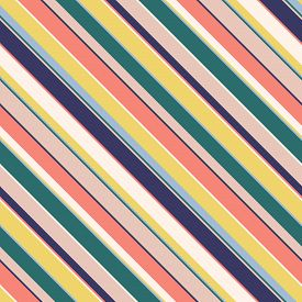 Diagonal Stripes Seamless Pattern. Simple Vector Texture With Thin And Thick Inclined Lines. Modern