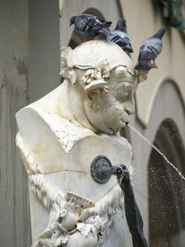 Statue-Fountain. The Man Spat By Water.