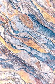 Rock Layers - A Colorful Formations Of Rocks Stacked Over The Hundreds Of Years. Interesting Backgro