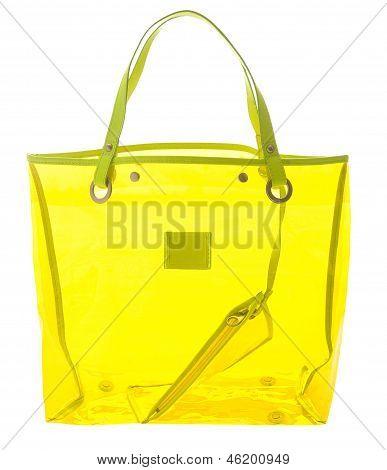 Transparent Yellow Handbag