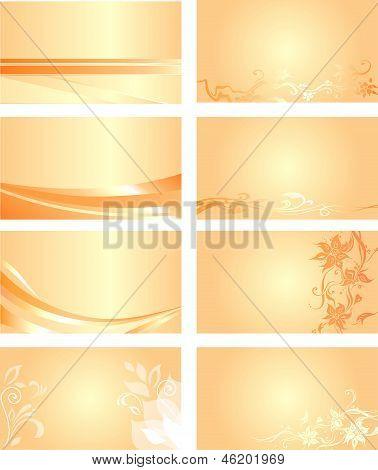 Orange business card background