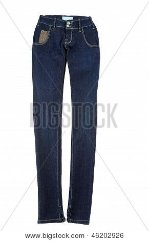 Blue Jeans With Gold Nuggets