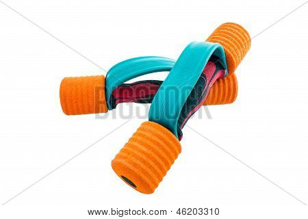 Used Colorful Dumbbells