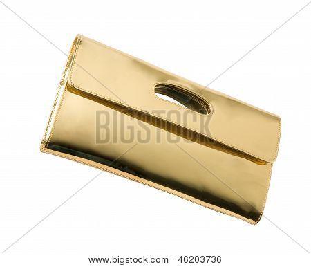 Golden Leather Handbag