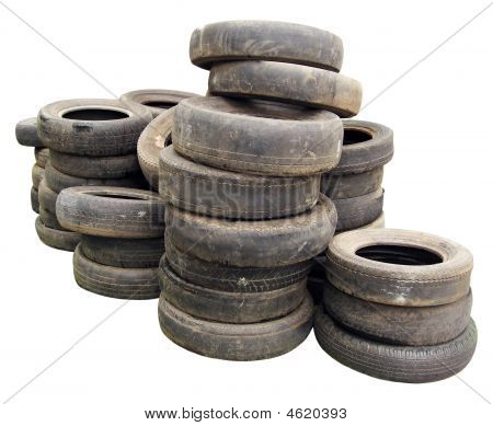 Stack Of Old Tires