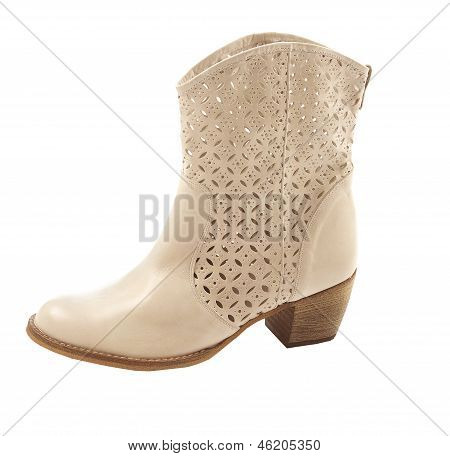White Cowgirl Boot
