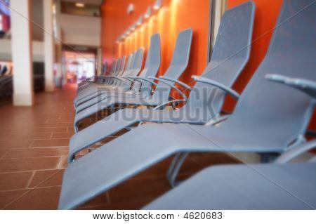 Row Of Grey Chairs