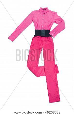 Pink Denim Still Life Fashion Composition
