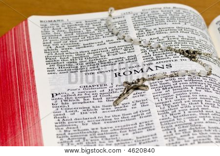 Rosary Bible Page - Romans