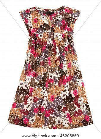 Sleeveless Small Flowers Wide Dress