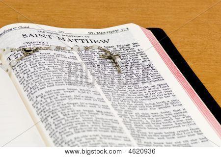 Rosary Bible Page - St Matthew