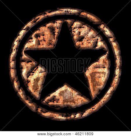 Star Logo Vintage Grunge