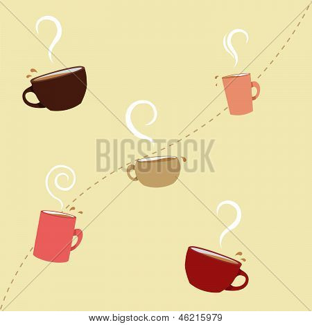 Coffee Cups Seamless Pattern
