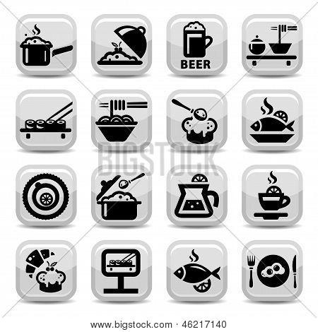 food vector icon set