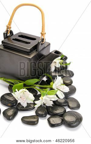 Asian tea service isolated