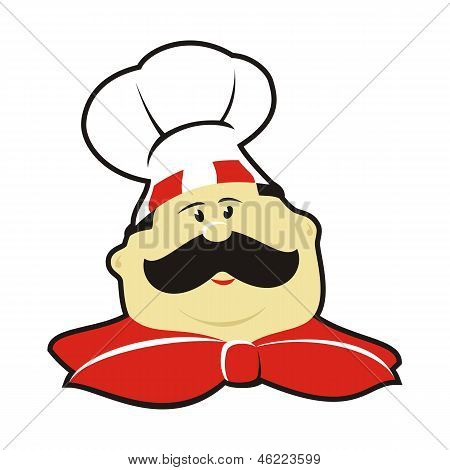 Cartoon Chef With Hat