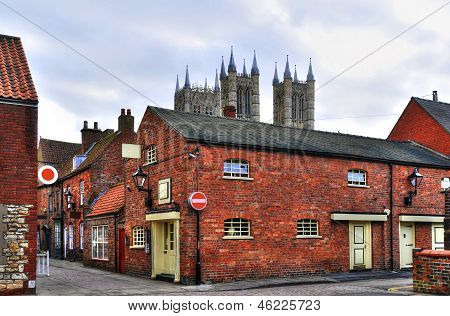 Back Street In Lincoln, England
