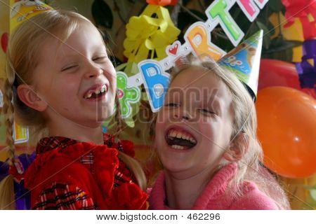 two girls at the birthday party poster