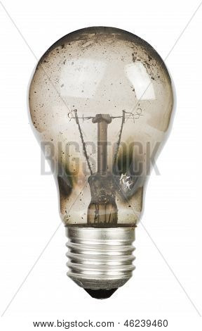 Old Burnt Lamp Smoked Inside