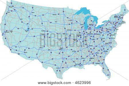 interstate USA-Karte
