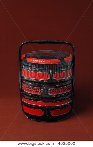 Chinese Wood Wedding Basket