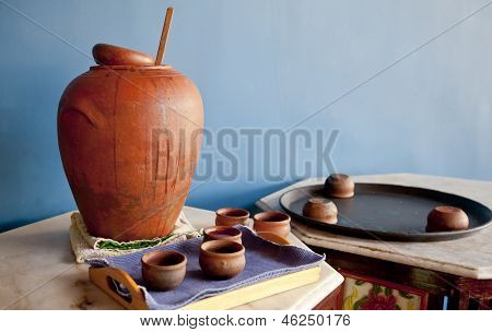 Indgenous Craft Of Earthern Ware Display