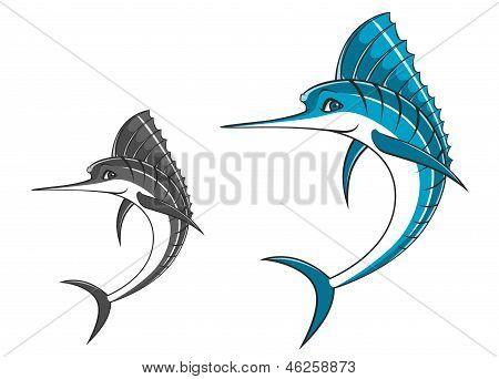 Big blue marlin