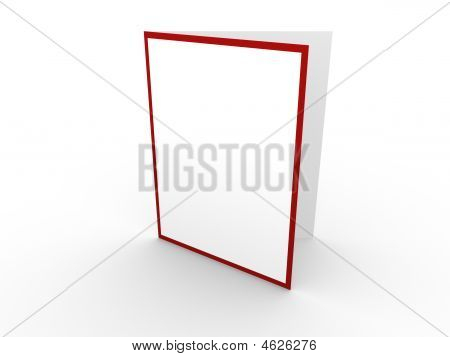 White Card With Red Border