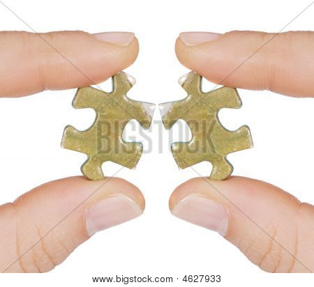 Two Same Pieces Of Puzzle That Do Not Fit