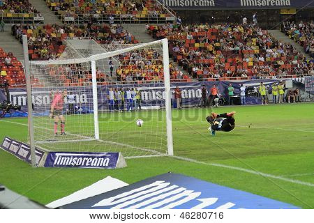 Goalkeeper dive